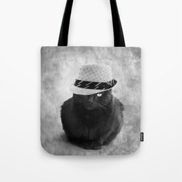 Cat with hat Tote Bag