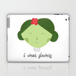 I wear flowers Laptop & iPad Skin