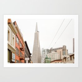 The Transamerica Pyramid San Francisco Art Print