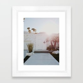 Palm Springs Sunset Framed Art Print