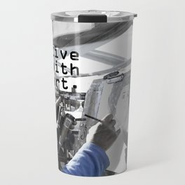live with art Travel Mug