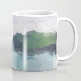Aqua Blue Green Abstract Art Painting Coffee Mug