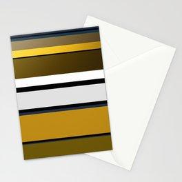 Golden Stripes Pattern Stationery Cards