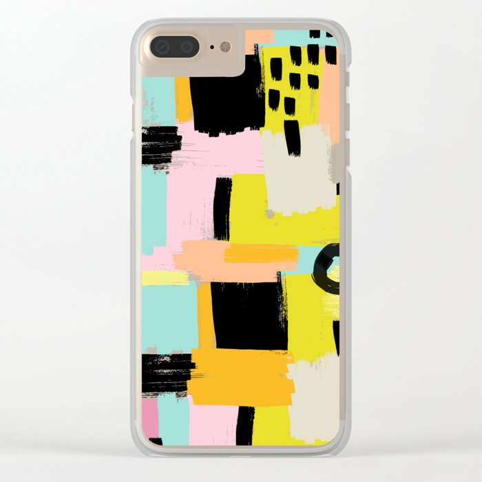 Color section001 Clear iPhone Case