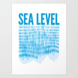 Sea Level Art Print
