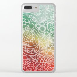 Christmas Bling Clear iPhone Case