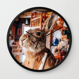 Rabbit Taxidermy in Cafe Grossglockner Wall Clock