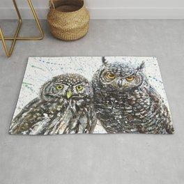 Wild Heard Owls Rug