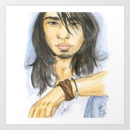 Watercolor Asian Youth Portrait Art Print