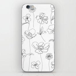 Botanical illustration drawing - Botanicals White iPhone Skin