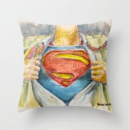 Superman - Fictional Superhero Throw Pillow
