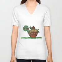 turtles V-neck T-shirts featuring Turtles by BNK Design