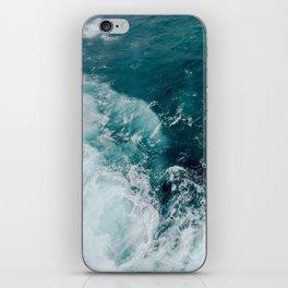 Ocean Waves (Teal) iPhone Skin