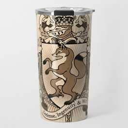 Fox Coat Of Arms Heraldry Travel Mug