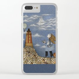 Ship in the Sky Clear iPhone Case