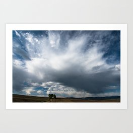 Cloudscape over Farm Fields Art Print