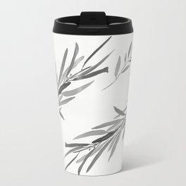 Eucalyptus leaves black and white Travel Mug