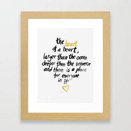 The Heart Of A Heart Framed Art Print