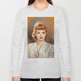 Lucille Ball, Hollywood Legend Long Sleeve T-shirt