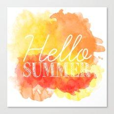 Hello Summer; Canvas Print