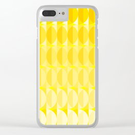 Leaves in the sunlight - a pattern in yellow Clear iPhone Case
