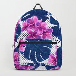 Tropical Flowers & Monstera Backpack