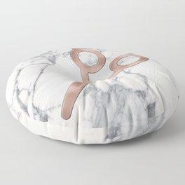 Rose Gold Scissors on Marble Background - Salon Decor Floor Pillow