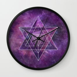 Metatron's Merkaba  Wall Clock
