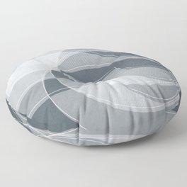 Spacial Orbiting Spiral in Peninsula Blue Floor Pillow