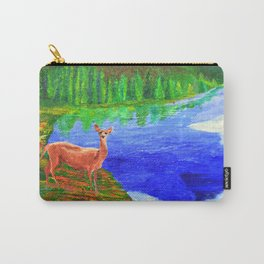 Deer at Mystic Creek Carry-All Pouch