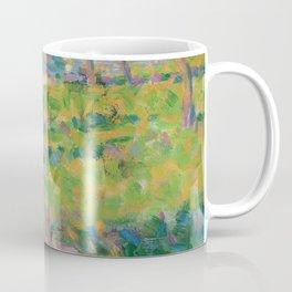 """Georges Seurat  """"Paysage, homme assis (étude pour Un Dimanche d'été à l'Ile de La Grande Jatte)"""" Coffee Mug"""