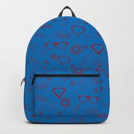 Supergirl/Kara's pattern - red Backpack