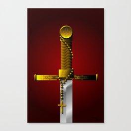 Crusader's Sword Illustration Canvas Print