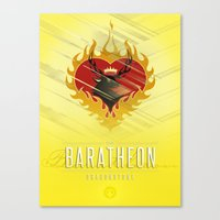 westeros Canvas Prints featuring Stannis Baratheon Sigil III (house seat) by P3RF3KT