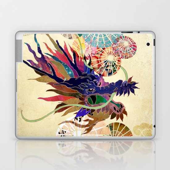 Dragon with unbrellas Laptop & iPad Skin