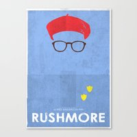 rushmore Canvas Prints featuring Rushmore by Ben Mcleod
