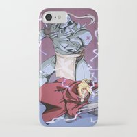 fullmetal alchemist iPhone & iPod Cases featuring Fullmetal Brothers by The Sketchy Corner - Ian Moir