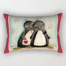 Penguin love -  Rectangular Pillow