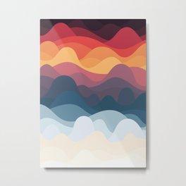 Moody Waves Metal Print