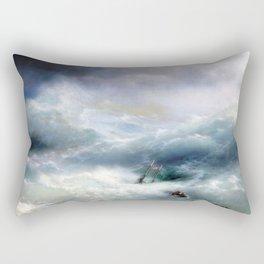 Ivan Aivazovsky - The Wave Rectangular Pillow