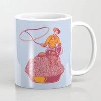 western Mugs featuring Spaghetti Western by Tom Burns