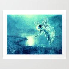 Turquoise Blue Fairy Art Print