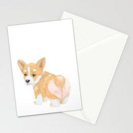 Welsh Corgi puppy Stationery Cards