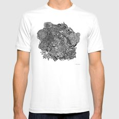 Sherlock  MEDIUM White Mens Fitted Tee