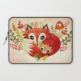 Fox Mom & Pup Laptop Sleeve