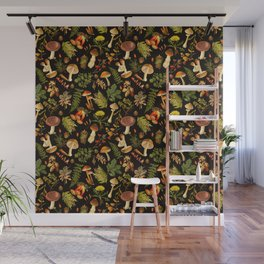 Vintage & Shabby Chic - Autumn Harvest Black Wall Mural