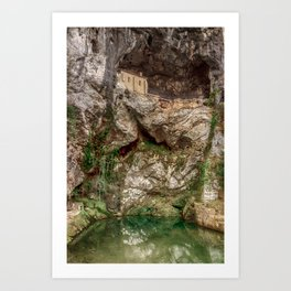 The Holy Cave of Covadonga Art Print
