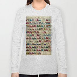 Vintage Naval Flags of The World Illustration Long Sleeve T-shirt