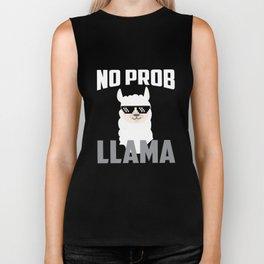 No Prob Llama - No Problem Llama Biker Tank