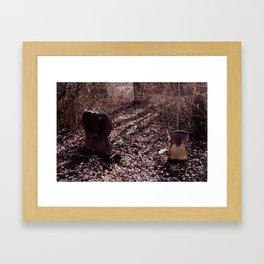 Headstones Framed Art Print